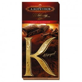 Korkunov Dark Chocolate Bar