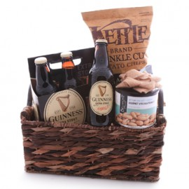 Robust Beer and Snacks Gift Basket