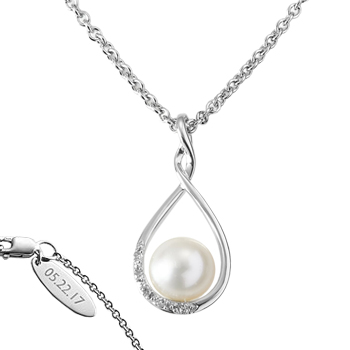 Forever Loved Pearl and Diamond Necklace