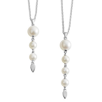 Mothers Strength Pearl Drop Necklace
